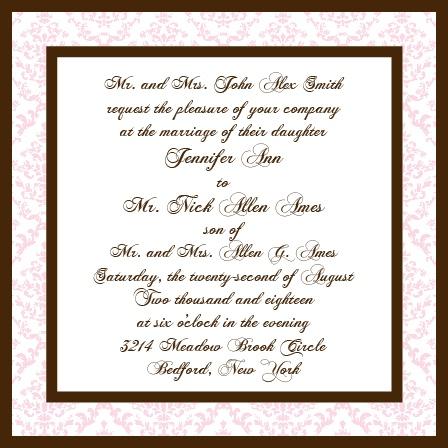 Victorian Square Wedding Invitations