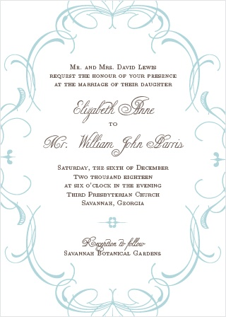 The Flourish Charm is an elegant and formal wedding invitation.
