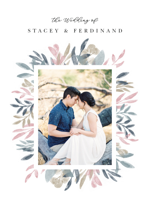 The Sweetly Framed wedding invitation features a favorite photograph of yourselves.