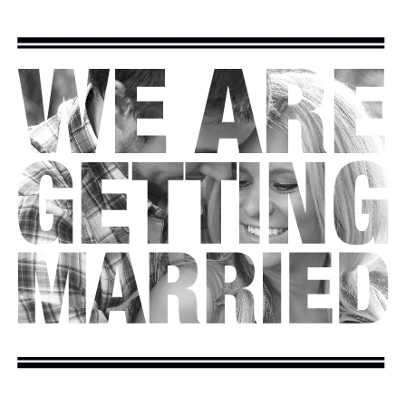 Transparent Text Wedding Invitations