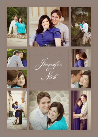 If you have a collection of photos you want to incorporate into your invite, the Elegant Photo Collage is the invitation for you!