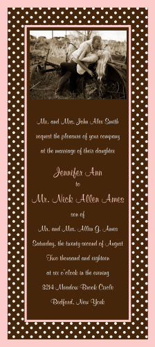 Put some polka dots in your life with The Polka Dot Passion wedding invitation.