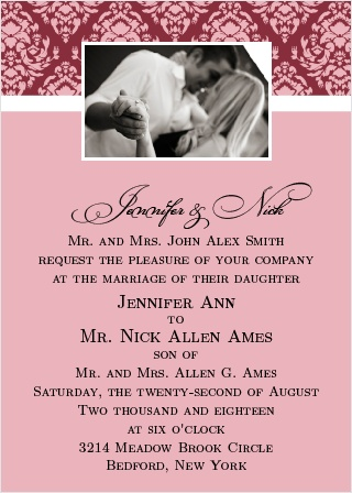 The Completely Centered provides a great opportunity to put together one of the most imaginative and colorful wedding invitations.
