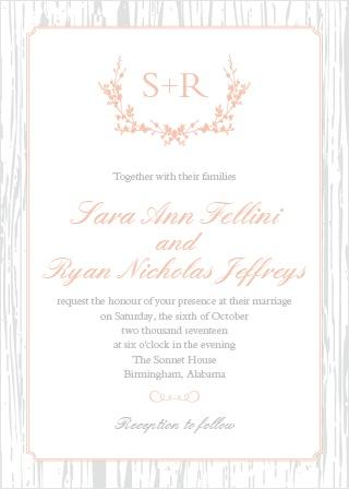 The Rustic Wreath Wedding Invitation