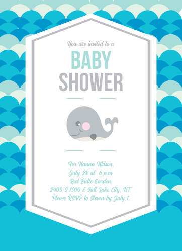 Baby shower invitations 40 off super cute designs basic invite baby whale baby shower invitations filmwisefo
