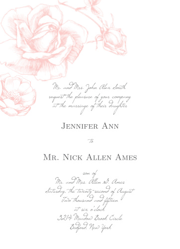 This clean and traditional invitation is an elegant way to announce your special day.