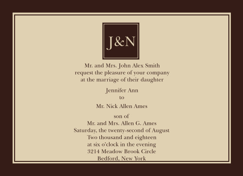 Welcome to the elegant and freshly designed The Monogram Square wedding invitation.