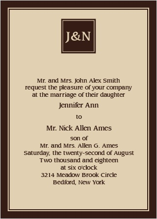 Welcome to the elegant and freshly designed The Monogram Square Portrait wedding invitation.
