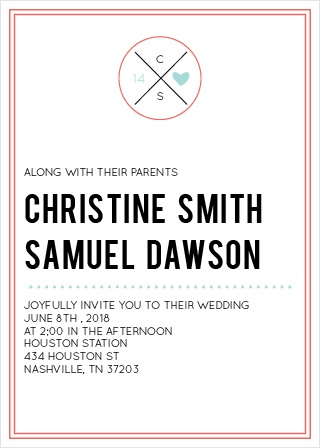 Less is more with The Modern Monogram invite. Simple and completely adorable. Your guests will be looking forward to your special day! Customize the colors and fonts to make your announcements truly one of a kind.