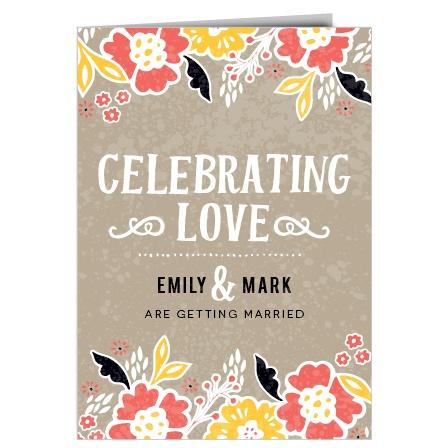 The Flowering Love Wedding Invitation