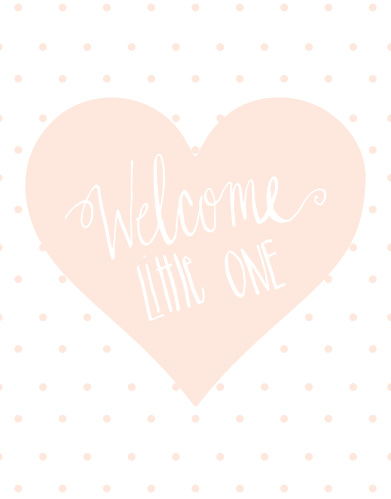 Hearts are always the way to go! With this mini-fold Birth Announcement, it gives your 4 panels to show off your new bundle of joy! It also provides you plenty of room to include any information you wish!