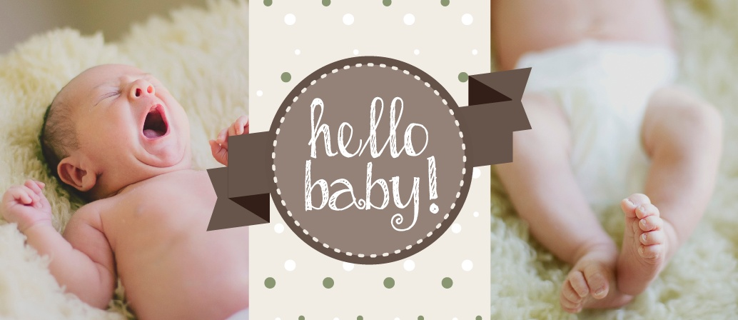 Lots of love, hugs and kisses for your new baby! Introduce her to the world with this long and narrow birth announcement! Customize the colors and fonts so you get exactly what you want! Upload your favorite photo, personalize it all online and have some fun while doing it!
