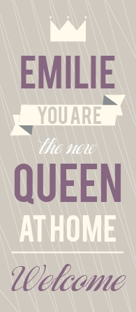 Celebrate the new queen by introducing her to the world with this adorable announcement! Customize all the fonts and colors and upload your favorite photos! Have some fun and see your changes instantly online!