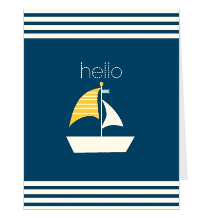 Nothing says baby boy quite like a little sailboat! Introduce your new little guy to the world with this fully customizable baby announcement! Choose the colors, change the fonts, and upload your favorite photo!