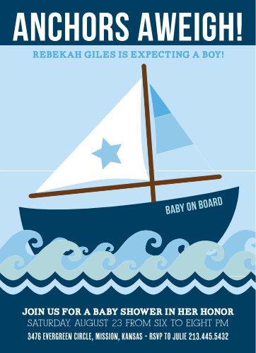 Ahoy! It's a boy! But wait, it get's even better! This adorable baby shower invitation is 100% customizable!