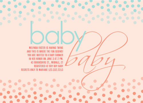 Baby shower invitations for twins basic invite confetti twins baby shower invitation filmwisefo