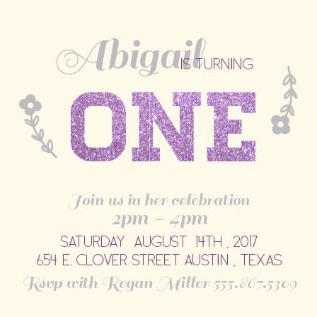 Glittered First Birthday Invitation