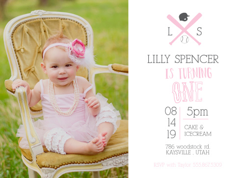 Out of the park! The Baseball Monogram First Birthday Invitations is a great way to let everyone know about this major milestone.