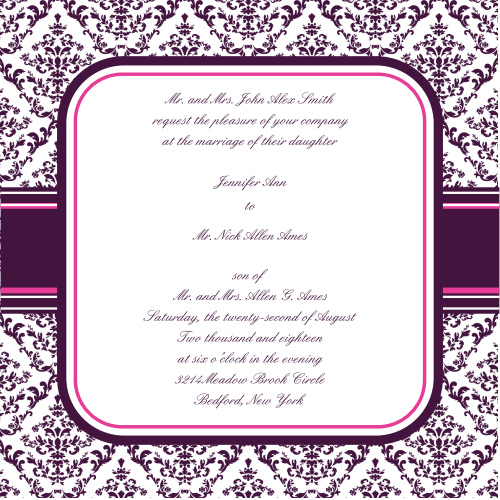 The Ribbon and Damask combines the old and the new in clear and bold graphic design.