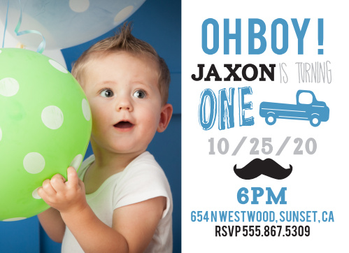 Mustache birthday invitations match your color style free truck mustache first birthday invitations filmwisefo
