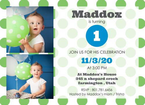Oh my gosh! Look at all of these adorable polka dots! A super cute invite to let everyone know about their big day!