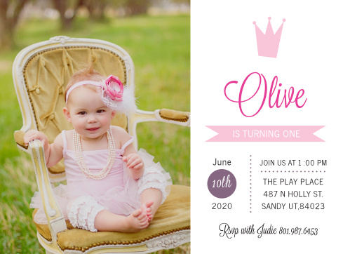 Hear ye, hear ye! This invitation announces the upcoming milestone of your little prince or princess, in the cutest way possible.