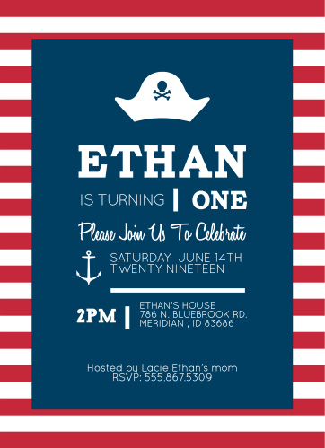 First birthday invitations 40 off super cute designs basic invite pirate first birthday invitations filmwisefo