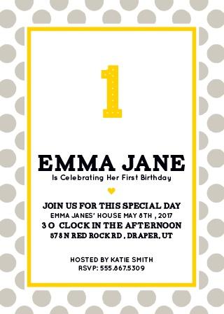 Big One First Birthday Invitations