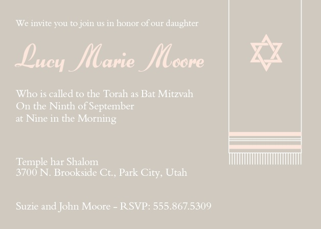 Prayer Shawl Bat Mitzvah
