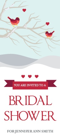 The Lovebirds invite has a elegant and creative design that fits perfectly with your  bridal shower.