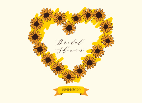 Sunflower bridal shower invitations match your color style free sunflower wreath bridal shower invitations filmwisefo