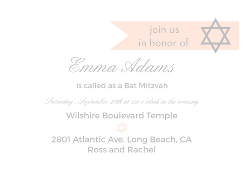 With its beautiful text placement, and quaint banner in the upper corner, this invite is the perfect combination of class and fun.