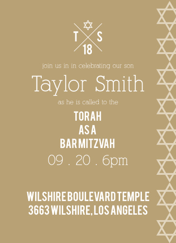If you're looking for a Bar Mitzvah Invitation that is simple, trendy, and completely customizable, look no further!