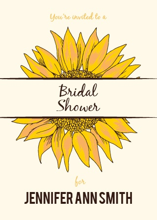 Stay classy with the Sunflower Double Sided Bridal Shower invitation. Change the colors, fonts and even the pattern, in order to make this invite stand out among all the rest!