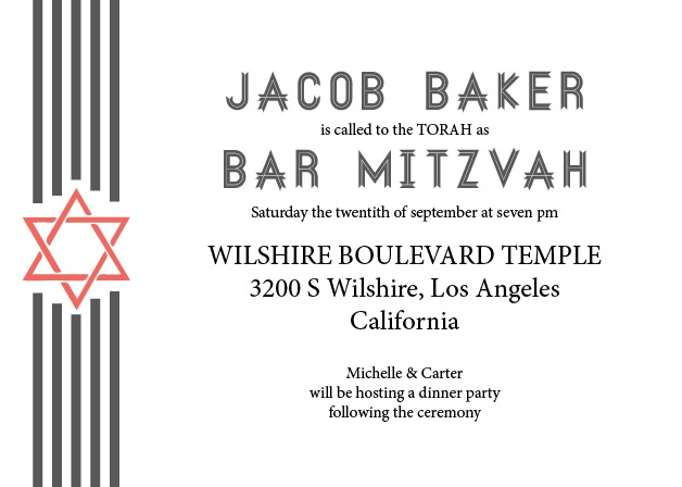 With its great looking ribbons, and tons of room for all of your information, this invite is the perfect combination of professional and personal.