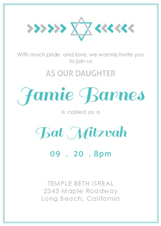 Arrows Bat Mitzvah