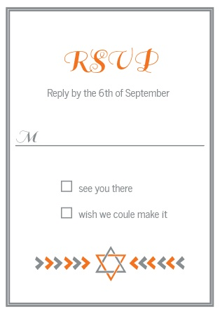 Arrows Bar Mitzvah RSVP Cards