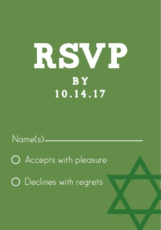 Watermark Bar Mitzvah RSVP Cards