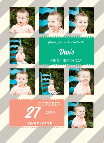 With this elegant pattern, and beautiful script, everyone who receives this invite will be more than happy to know your little one.