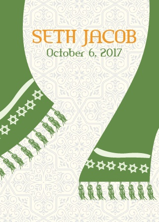 With its awesome Hanging Shawl, and clear as day wording, this invite is the perfect combination of fun and classy.