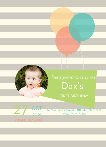 Baby Birthday Invitations Birthday Invitation Templates Elephant - Baby girl first birthday invitation ideas