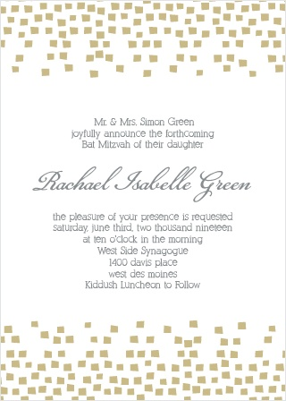 With its super fun confetti, and clear as day wording, this invite is the perfect combination of cool and classy.