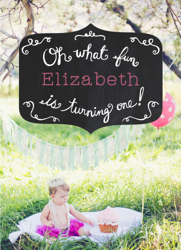 This card is super trendy and super cute, and it's also perfect for your little ones first birthday!