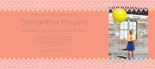 Bat Mitzvah Invitations – Bat Mitzvah Party Invitations