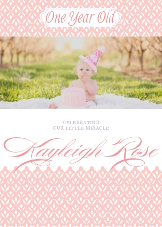 Our Little Miracle First Birthday Invitations