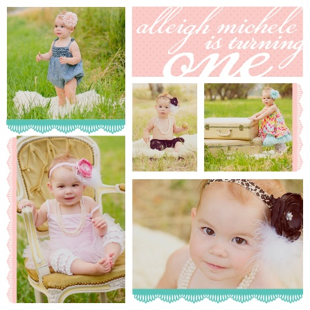 Lace and Polka Dots First Birthday Invitation