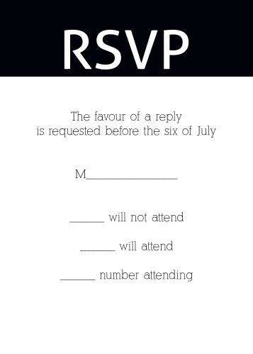 Obtain your guests attendance by sending out this RSVP card. Customize the colors and fonts to match you Bat Mitzvah theme exactly!