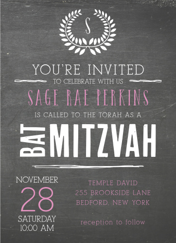 With its great looking Chalkboard, and tons of room for all of your information, this invite is the perfect combination of professional and personal.