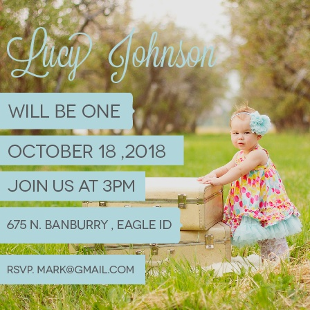 Important Little Banners First Birthday Invitations
