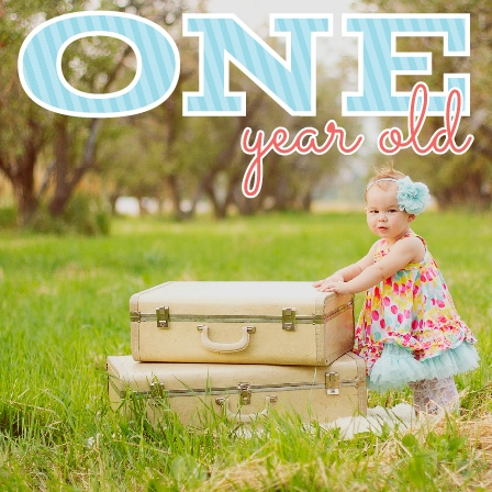 This cute photo themed invite is a great way to show off your adorable little one, and get guests excited!